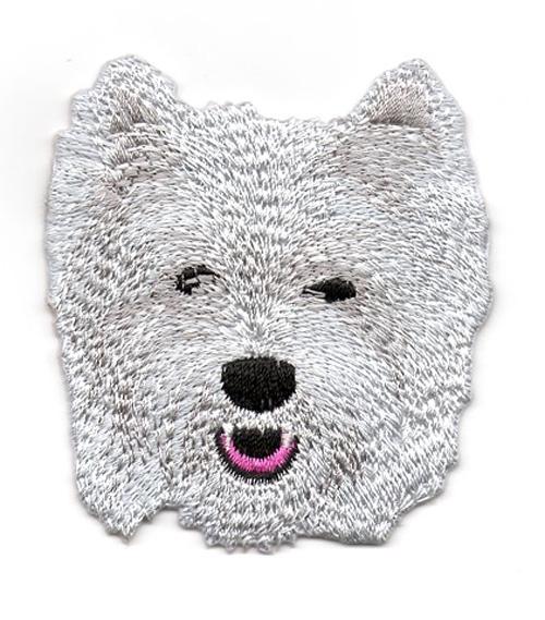 Applikation Patch Hund Westi 6,5 x 7cm