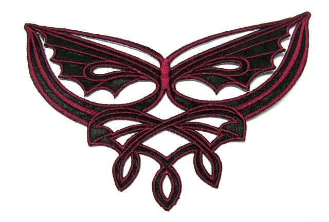 1 Applikationen Tribal 12,7 x 8cm Farbe: Bordeaux