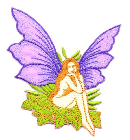 Applikation Patch Elfe Fee 7x7cm Farbe: Violett