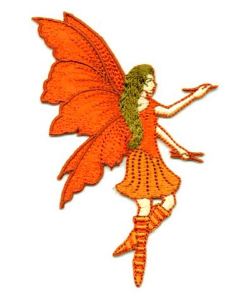 Applikation Patch Elfe Fee 6x9cm Farbe: Terracotta