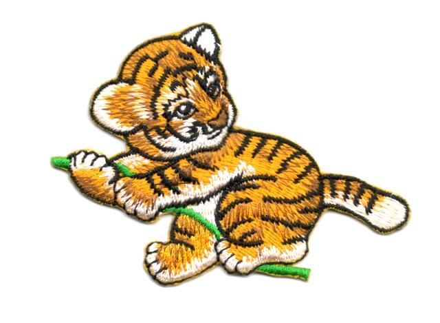Applikation Patch Bügelbild Tiger 9 x 6,5cm