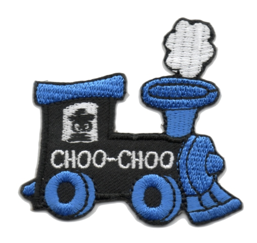 Applikation Patch Bügelbild Lokomotive 6,2 x 5,6cm Farbe: Blau