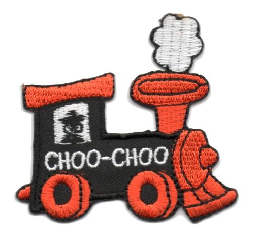 Applikation Patch Bügelbild Lokomotive 6,2 x 5,6cm Farbe: Terracotta