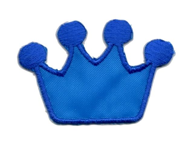 Applikation Patch Bügelbild Krone 4 x 3cm Farbe: Royalblau