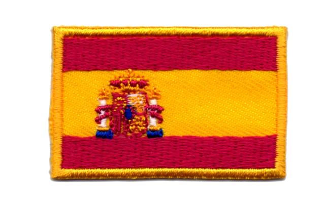 1 Aufnäher Sticker Patch Flagge Spanien 4,5 x 3cm