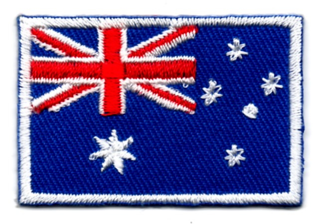 1 Aufnäher Sticker Patch Flagge Australien 3 x 2cm