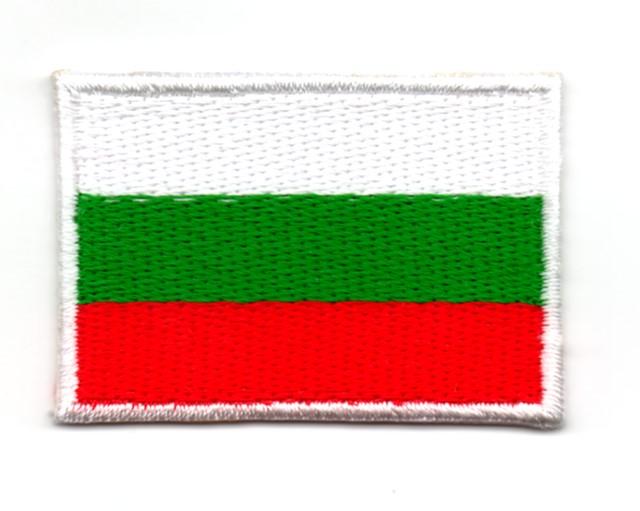 Applikation Sticker Patch Flagge Bulgarien 4,6x3,2cm