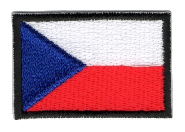 Aufnäher Sticker Patch Flagge Tschechische Rep. 4,4x3cm