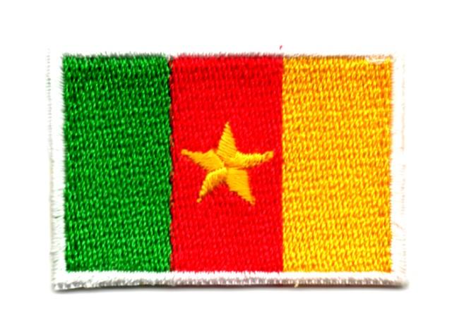 Applikation Sticker Patch Flagge Kamerun 4,6x3,2cm