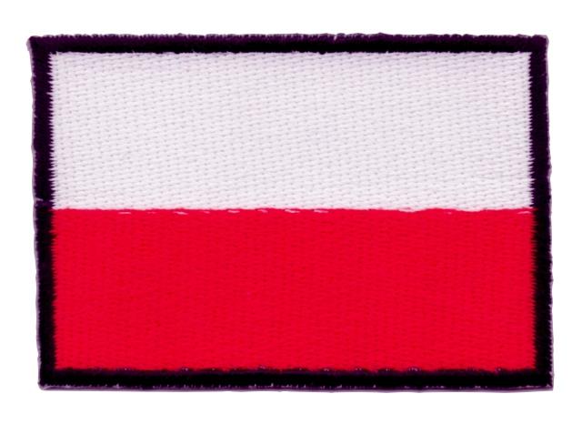 1 Aufnäher Sticker Patch Flagge Polen 7 x 4,7cm