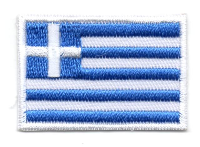 Applikation Sticker Patch Flagge Griechenland 4,6x3,2cm