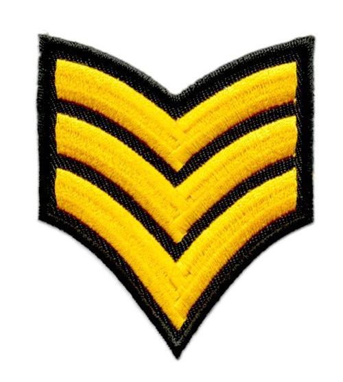 Applikation Patch Schulterstück Army 6,8x8cm Farbe: Gelb