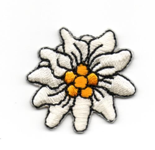 1 Stück Edelweiss-Applikationen Wiesn Trachten Durchmesser 3,5cm