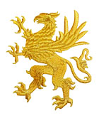1 Applikation Wappen Adler 11 x 13cm Farbe: Lurex-Gold