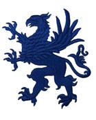 1 Applikation Wappen Adler 11 x 13cm Farbe: Blau
