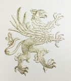 1 Applikation Wappen Adler 11 x 13cm Farbe: Lurex-Silber