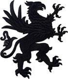 1 Applikation Wappen Adler 11 x 13cm Farbe: Schwarz