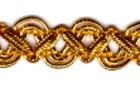 16,40m Gold-Borte im leonischen Stil 12mm breit Farbe: Lurex-Gold