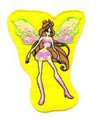 Applikation Patch Elfe Fee 7x8,5cm Farbe: Gelb
