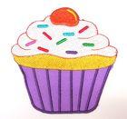 1 Applikationen Patch Muffin Kuchen 8 x 8cm