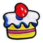 1 Applikationen Patch Muffin Kuchen 7,7 x 7,7cm