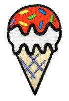 1 Applikationen Patch Eis Waffeleis Eistüte 5 x 8cm