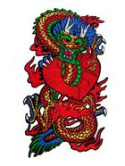 Applikation Patch Sticker Chinesischer Drache 9 x 15,5cm