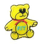 Applikation Patch Sticker Teddi Bär 3,4 x 3,6cm Farbe: Gelb