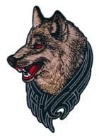1 Applikation Tribal Patch Wolf 7,5 x 10,8cm