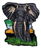 1 Applikation Tribal Patch Elefant 7,5 x 8,5cm