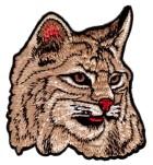1 Applikation Tribal Patch Wildkatze 8,3 x 9,3cm