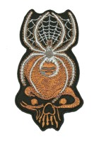 1 Applikation Tribal Patch Spinne 5,5 x 10,5cm