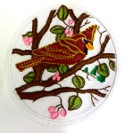 Applikation Patch Sticker Vogel 7,3 x 7,5cm