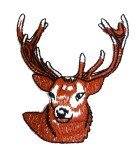 Applikation Patch Sticker Hirsch  6 x 6,5cm