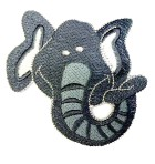 Applikation Patch Sticker tanzende Elefant 7,5 x 8cm