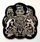 Applikation Patch Wappen 6,5 x 6,8cm Farbe: Schwarz-Lurexsilber