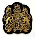Applikation Patch Wappen 6,5 x 6,8cm Farbe: Schwarz-Lurexgold