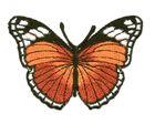 Applikation Patch Schmetterling 7,3x5,5cm Farbe: Orange-Braun