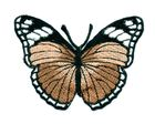 Applikation Patch Schmetterling 7,3x5,5cm Farbe: Braun