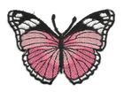 Applikation Patch Schmetterling 7,3x5,5cm Farbe: Magenta