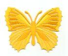 Applikation Patch Schmetterling 7,3 x 5,5cm Farbe: Sonnengelb