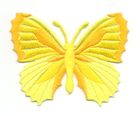 Applikation Patch Schmetterling 7,3 x 5,5cm Farbe: Gelb