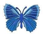 Applikation Patch Schmetterling 7,3 x 5,5cm Farbe: Blau