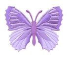 Applikation Patch Schmetterling 7,3 x 5,5cm Farbe: Flieder