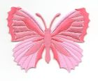 Applikation Patch Schmetterling 7,3 x 5,5cm Farbe: Magenta