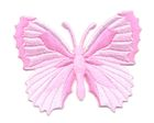 Applikation Patch Schmetterling 7,3 x 5,5cm Farbe: Rosa