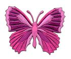 Applikation Patch Schmetterling 7,3 x 5,5cm Farbe: Fuchsia
