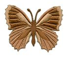 Applikation Patch Schmetterling 7,3 x 5,5cm Farbe: Braun