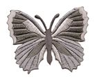 Applikation Patch Schmetterling 7,3 x 5,5cm Farbe: Grau