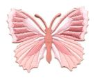 Applikation Patch Schmetterling 7,3 x 5,5cm Farbe: Altrosa